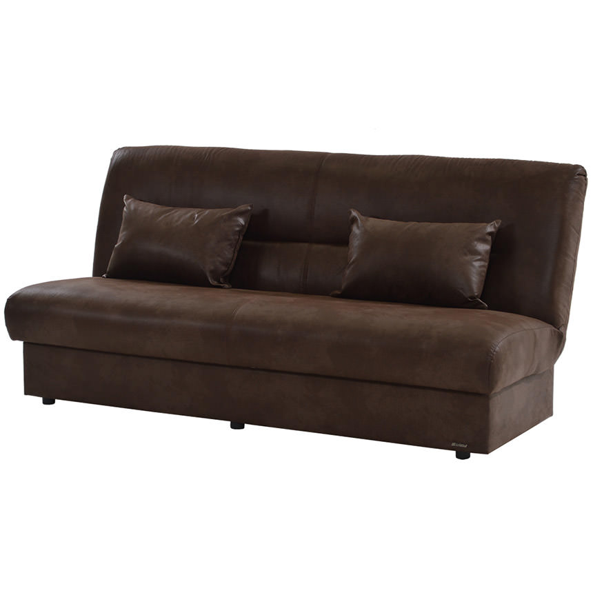 Regata Brown Futon w/Storage  main image, 1 of 5 images.