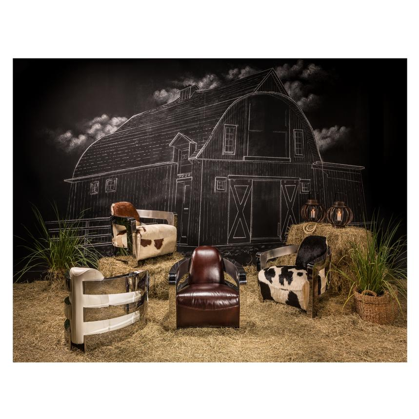 Aviator Brown Cowhide Leather Accent Chair  alternate image, 2 of 7 images.