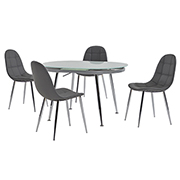Clotus Gray 5-Piece Dining Set  main image, 1 of 9 images.