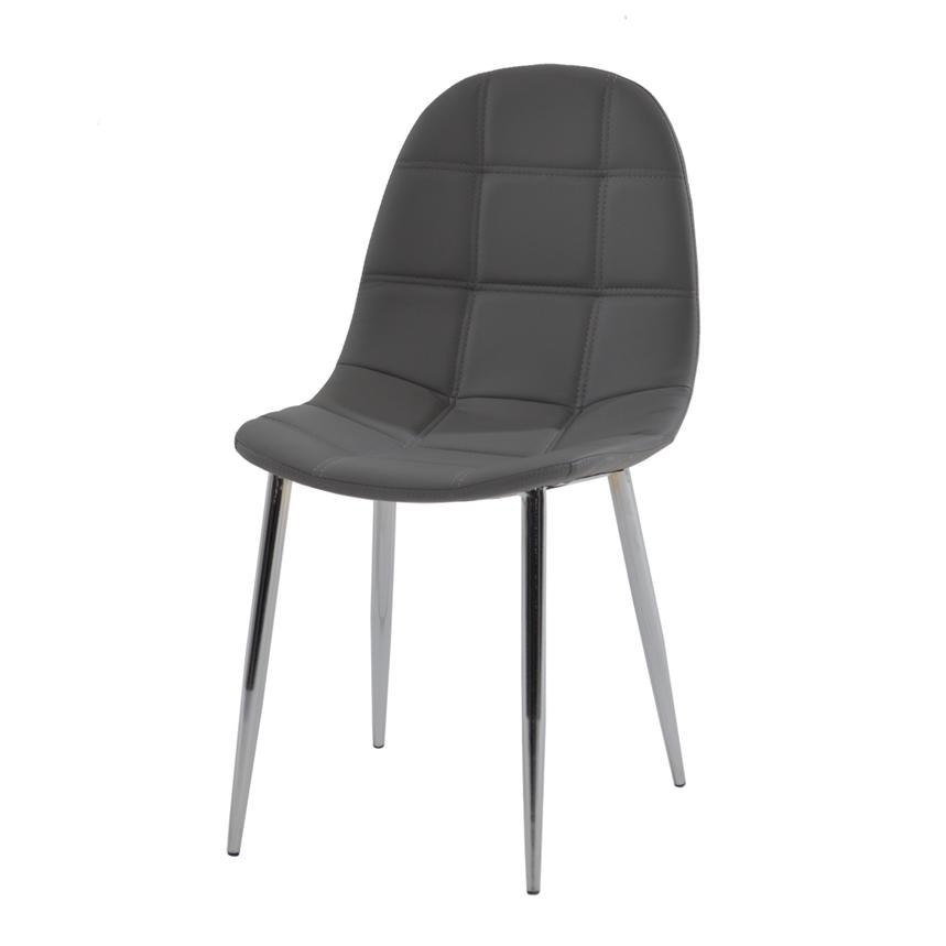 Clotus Gray Side Chair  main image, 1 of 4 images.