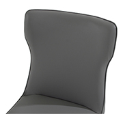 Onyx Gray Side Chair  alternate image, 3 of 4 images.