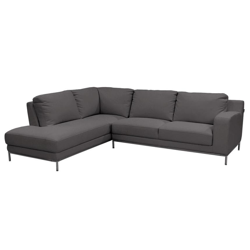 Excellent Cantrall Dark Gray Sectional Sofa W Left Chaise Pabps2019 Chair Design Images Pabps2019Com
