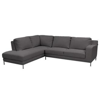 Cantrall Dark Gray Sofa w/Left Chaise