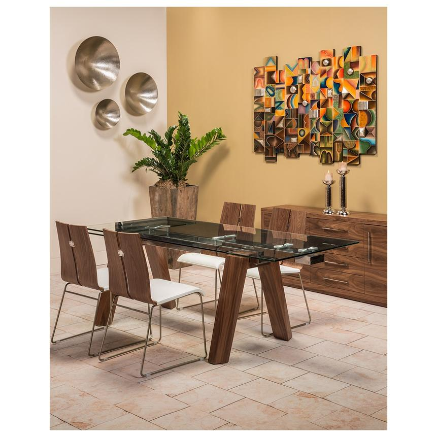 Valencia Brown Extendable Dining Table Alternate Image 2 Of 8 Images