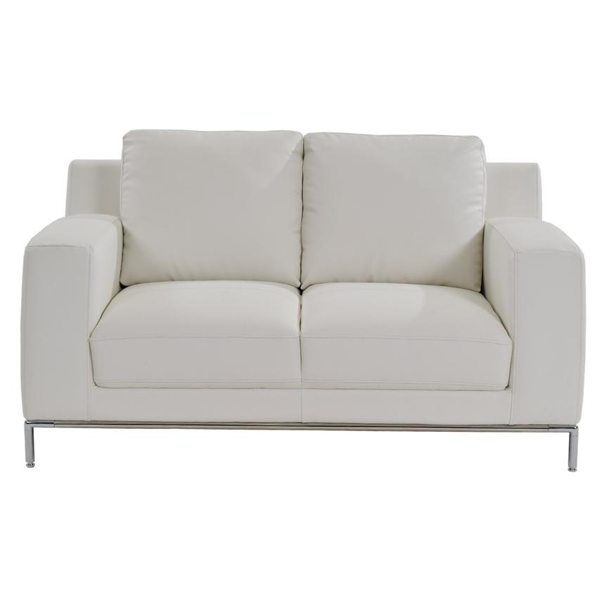 Cantrall White Loveseat  alternate image, 2 of 5 images.