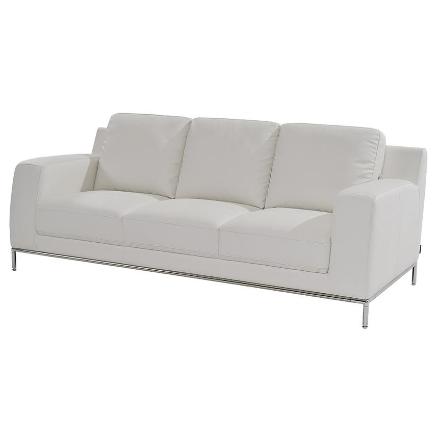 Cantrall White Sofa  main image, 1 of 8 images.