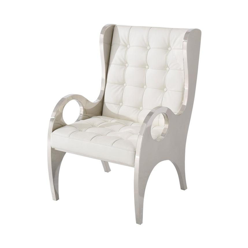 Boss White Accent Chair  main image, 1 of 4 images.