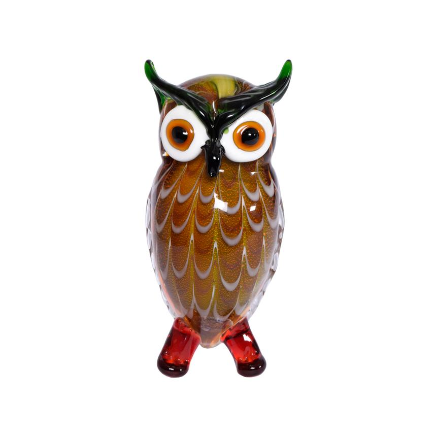 Big Eyes Owl Glass Sculpture  main image, 1 of 2 images.