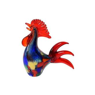 Rooster Glass Sculpture