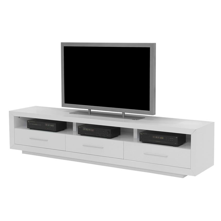 Contour I White TV Stand  main image, 1 of 6 images.
