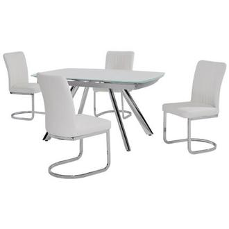 Alina White 5-Piece Dining Set