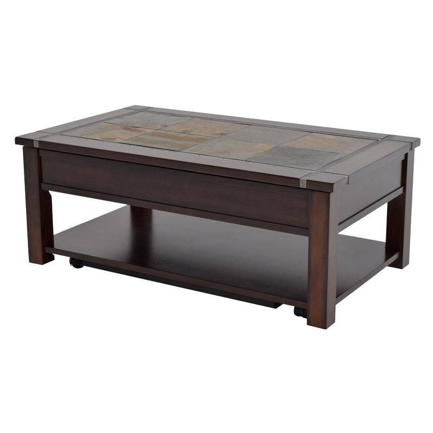 Roanoke Lift Top Coffee Table w/Casters  alternate image, 2 of 5 images.