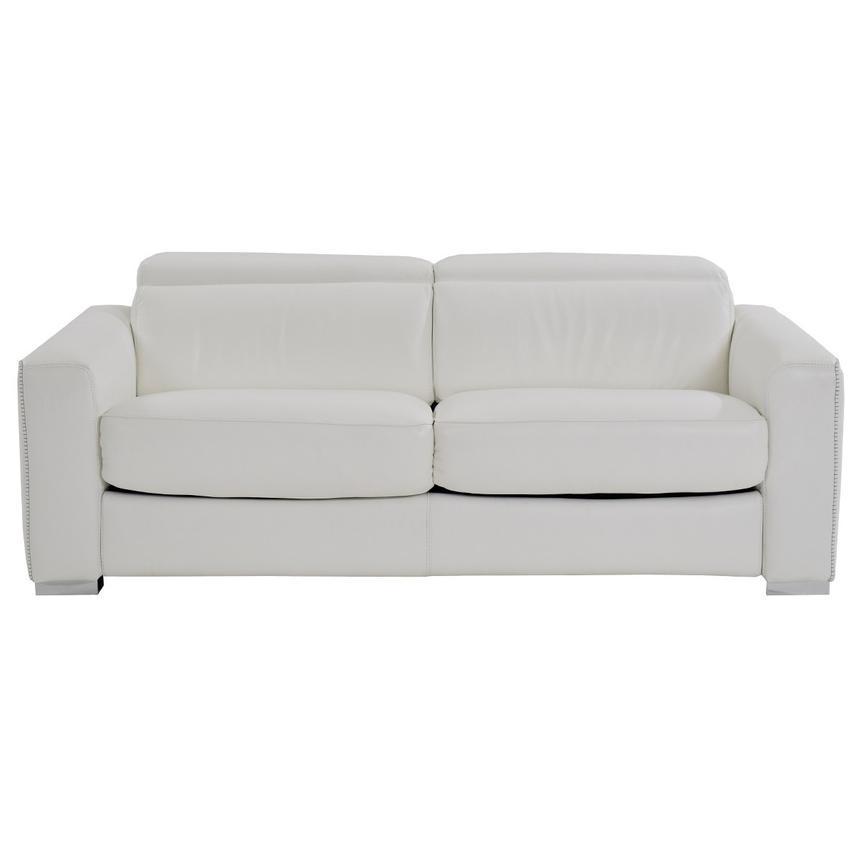 Bay Harbor White Leather Sleeper El Dorado Furniture