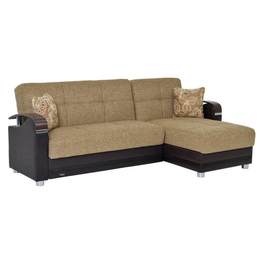 peron tan futon sofa w chaise   el dorado furniture  rh   eldoradofurniture