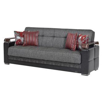 Ekol Gray Futon Sofa w/Storage