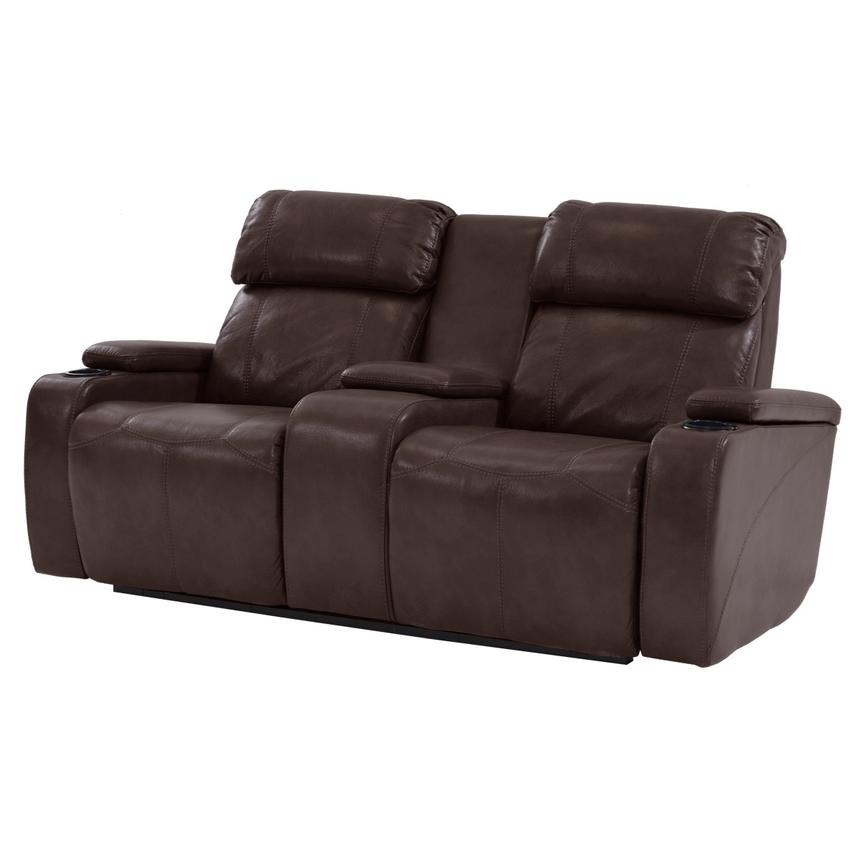 Magnetron Brown Power Motion Sofa w/Console  main image, 1 of 7 images.