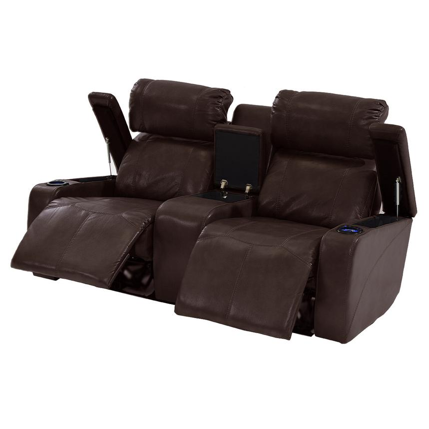 Magnetron Brown Power Motion Sofa w/Console  alternate image, 2 of 7 images.