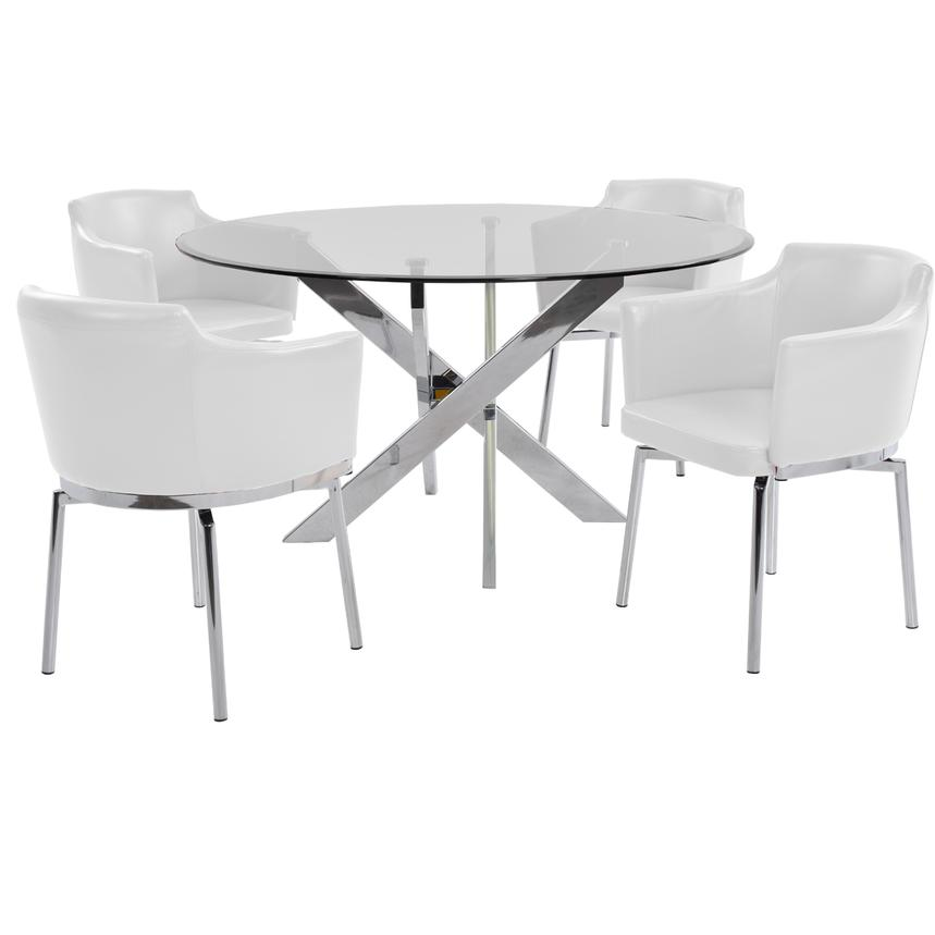 Dusty White 5-Piece Dining Set  main image, 1 of 8 images.