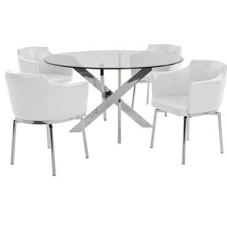 Dusty White 5-Piece Dining Set
