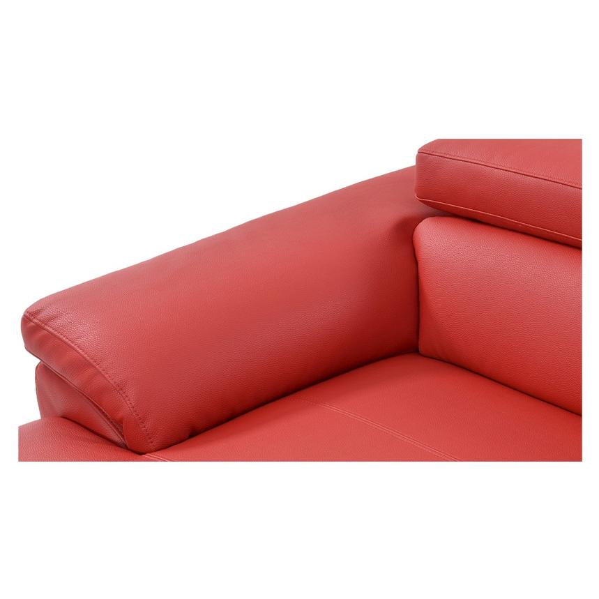 Costa Red Sofa w/Left Chaise  alternate image, 6 of 6 images.