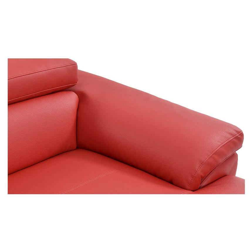 Costa Red Sofa w/Right Chaise  alternate image, 6 of 6 images.