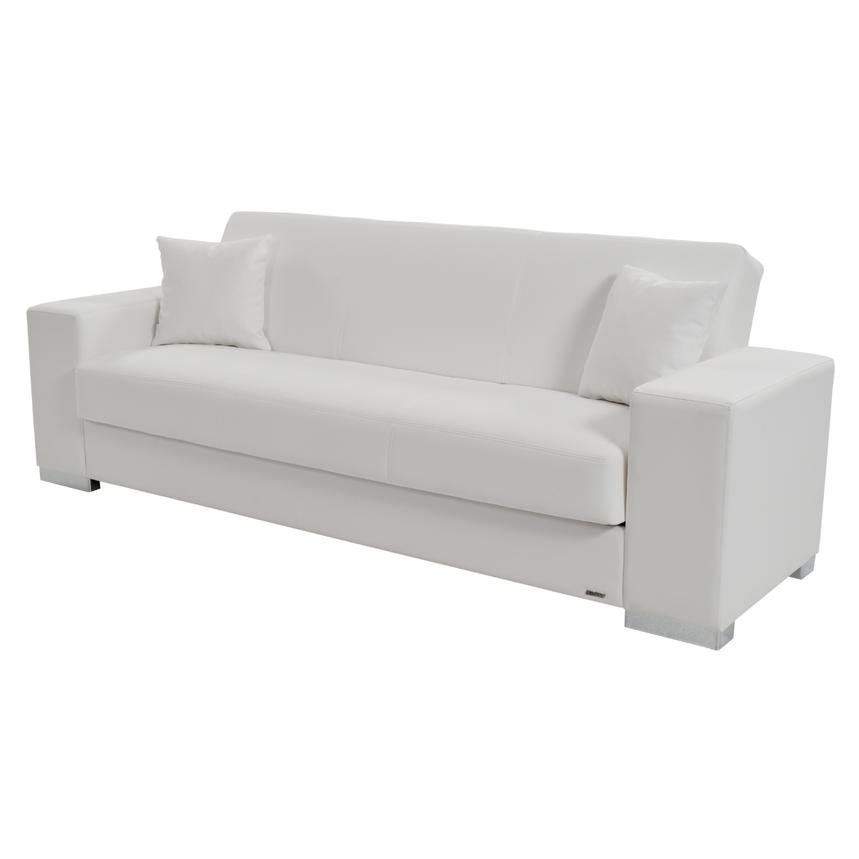 Kobe White Futon Sofa  main image, 1 of 7 images.
