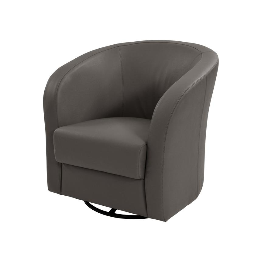 Delia Gray Swivel Accent Chair  main image, 1 of 5 images.