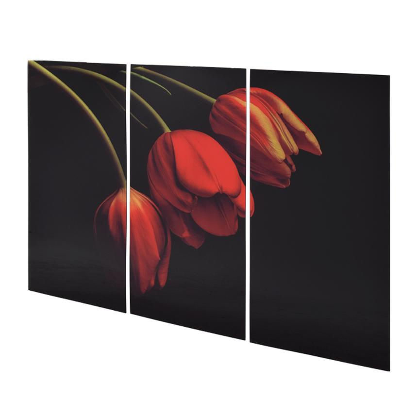 Belles Tulipes Set of 3 Acrylic Wall Art  alternate image, 2 of 3 images.