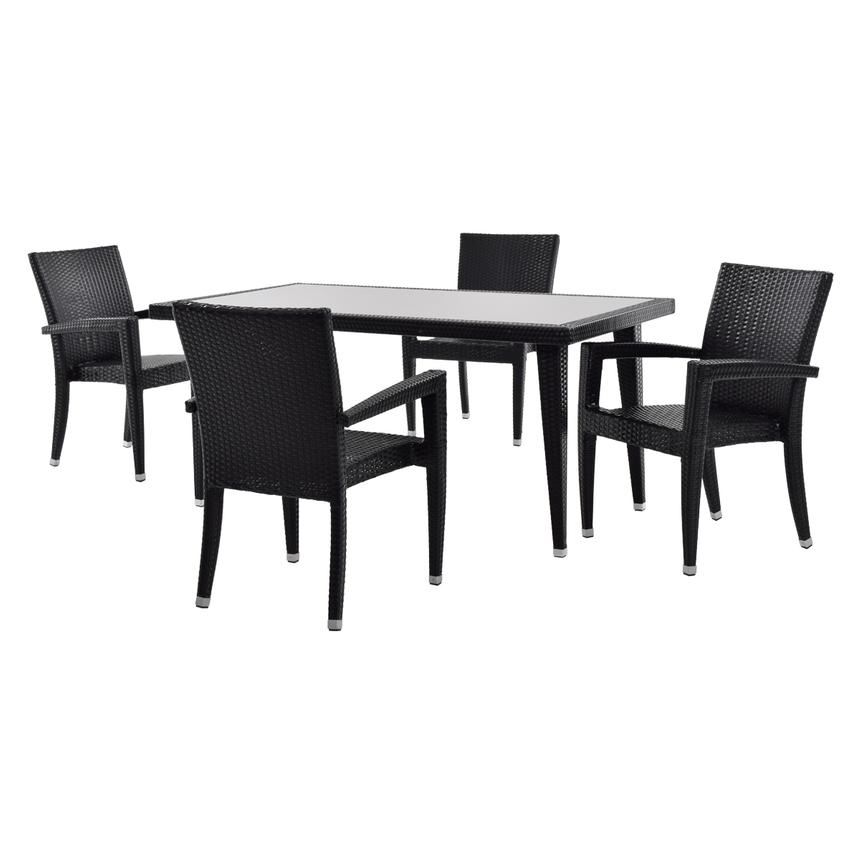 Neilina Black 5 Piece Patio Set Main Image, 1 Of 9 Images.