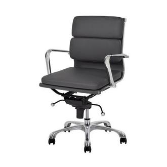 Marconi Gray Low Back Desk Chair