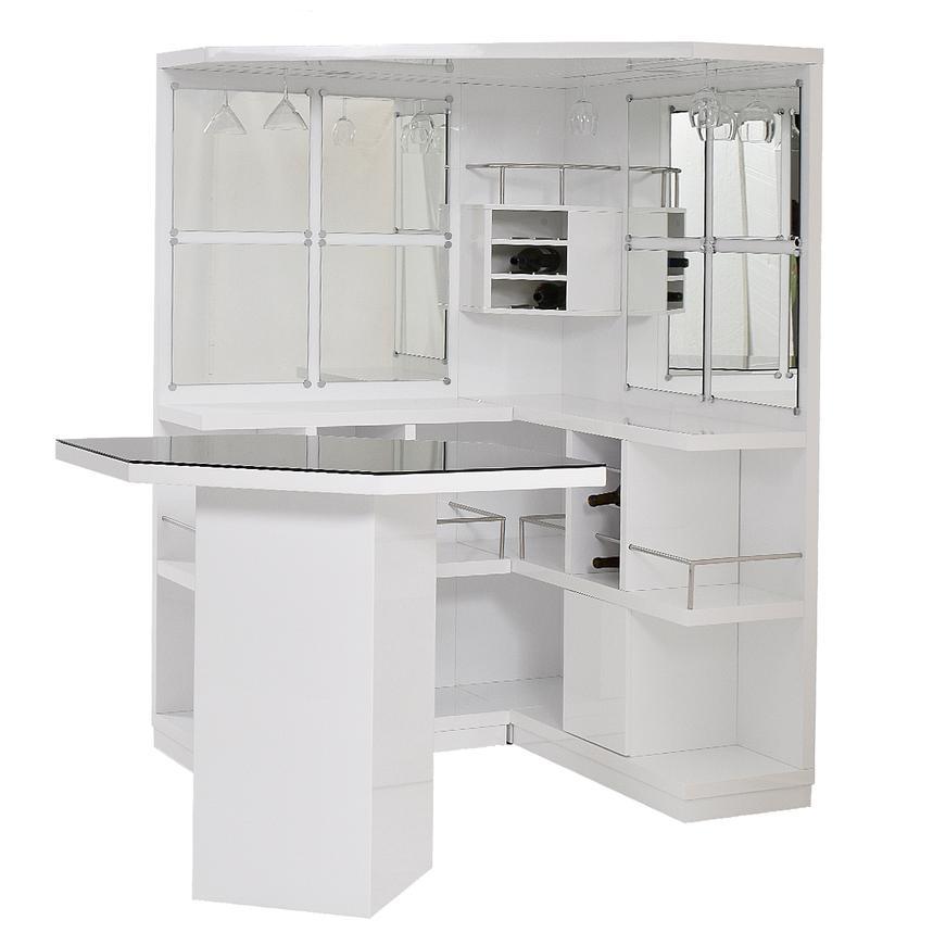 Nostran White Corner Bar W Table Main Image 1 Of 11 Images