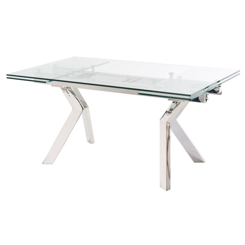 Lynne Clear Extendable Dining Table  main image, 1 of 7 images.