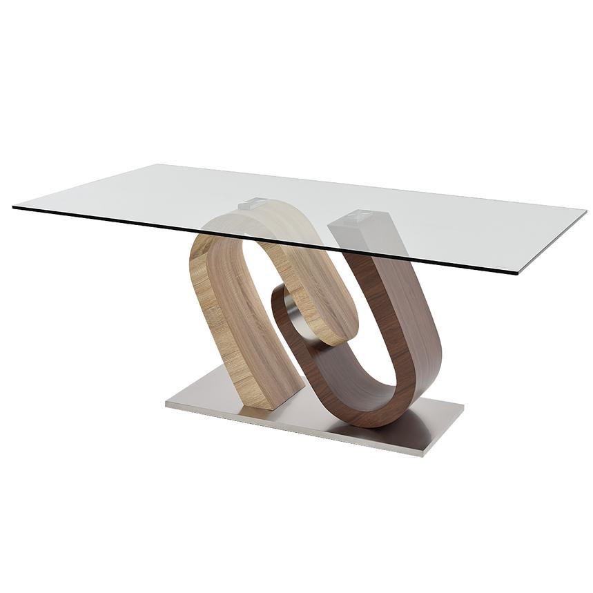 Serpentine Rectangular Dining Table  main image, 1 of 5 images.