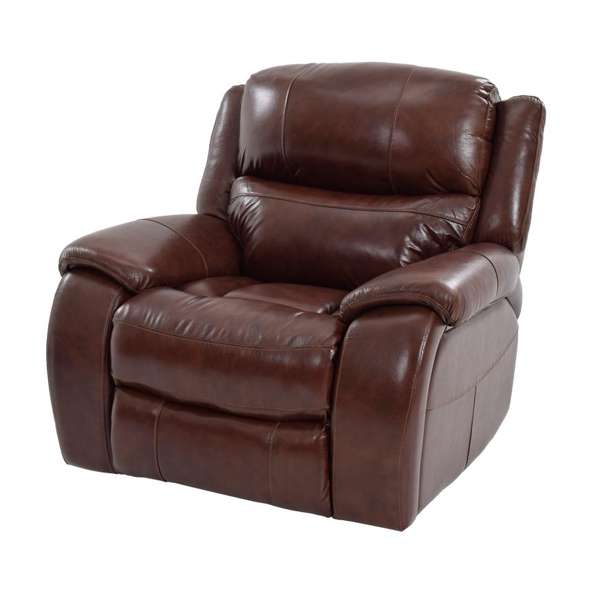 Abilene Leather Glider Recliner  main image, 1 of 7 images.