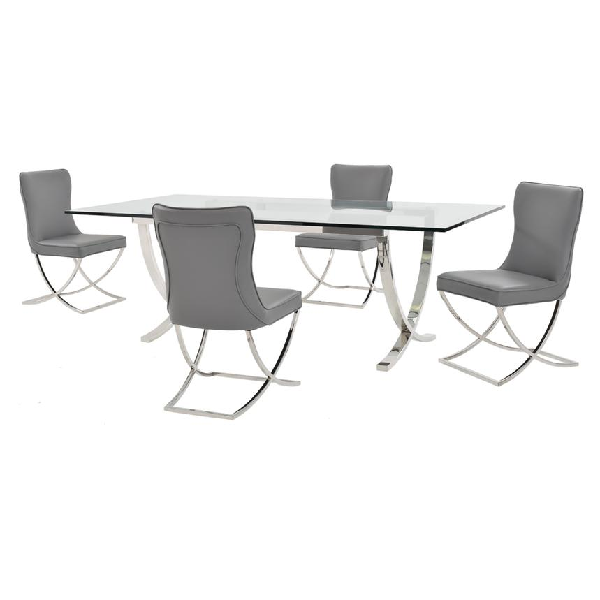 Luciele/Amanda Gray 5-Piece Formal Dining Set  main image, 1 of 9 images.