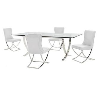 Luciele/Amanda White 5-Piece Formal Dining Set