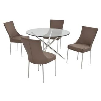 Patricia Taupe 5-Piece Casual Dining Set