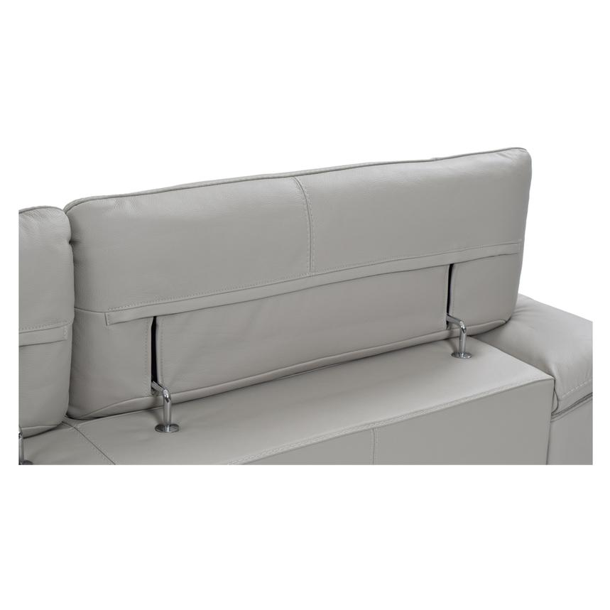 Tesla Gray Leather Sofa w/Right Chaise  alternate image, 7 of 8 images.
