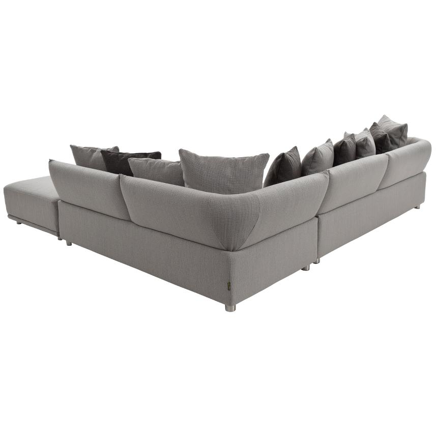 Alonzo Gray Sectional Sofa w/Ottoman  alternate image, 2 of 6 images.