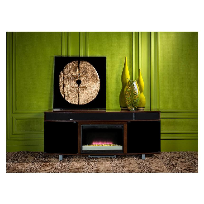 Enterprise Walnut Faux Fireplace w/Speakers  alternate image, 2 of 6 images.