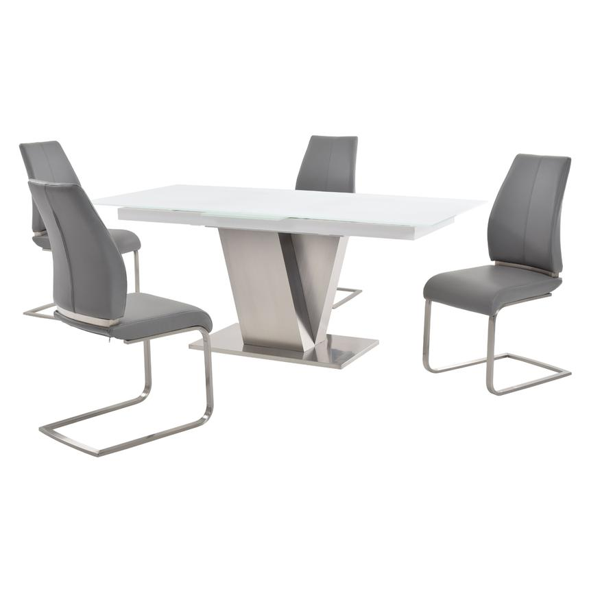 Maday Gray 5-Piece Formal Dining Set  main image, 1 of 10 images.