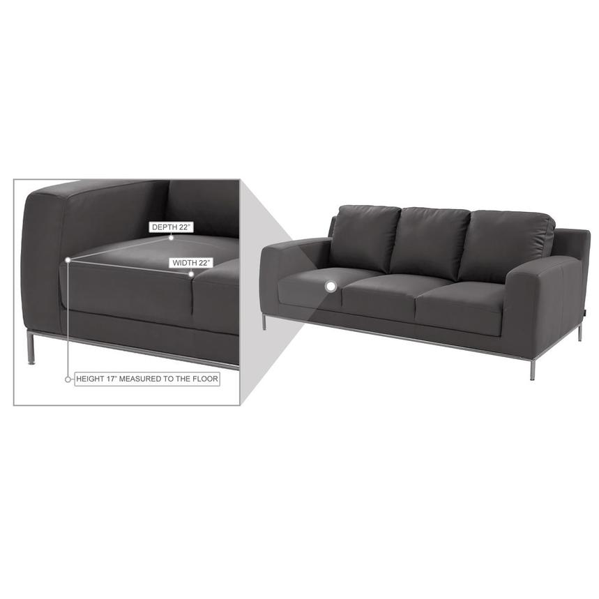 Cantrall Gray Sofa  alternate image, 7 of 8 images.