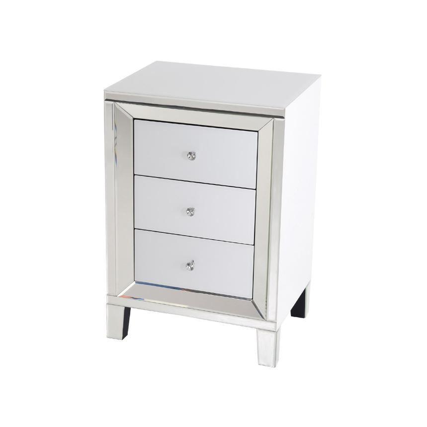 Amia White Mirrored Cabinet Main Image, 1 Of 8 Images.