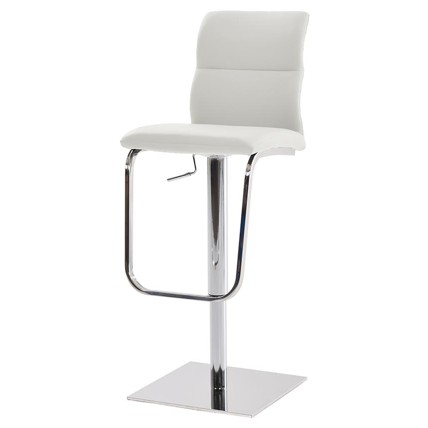 Colette White Adjustable Stool  main image, 1 of 5 images.