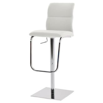 Colette White Adjustable Stool