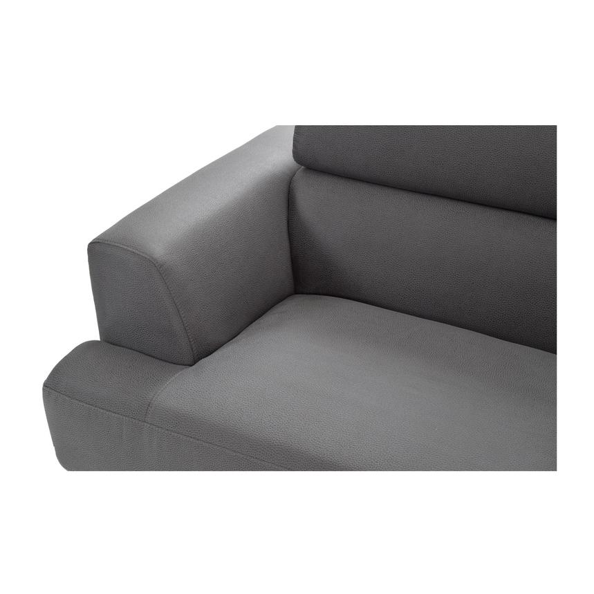 Ilias Gray Corner Sofa w/Right Chaise  alternate image, 6 of 8 images.