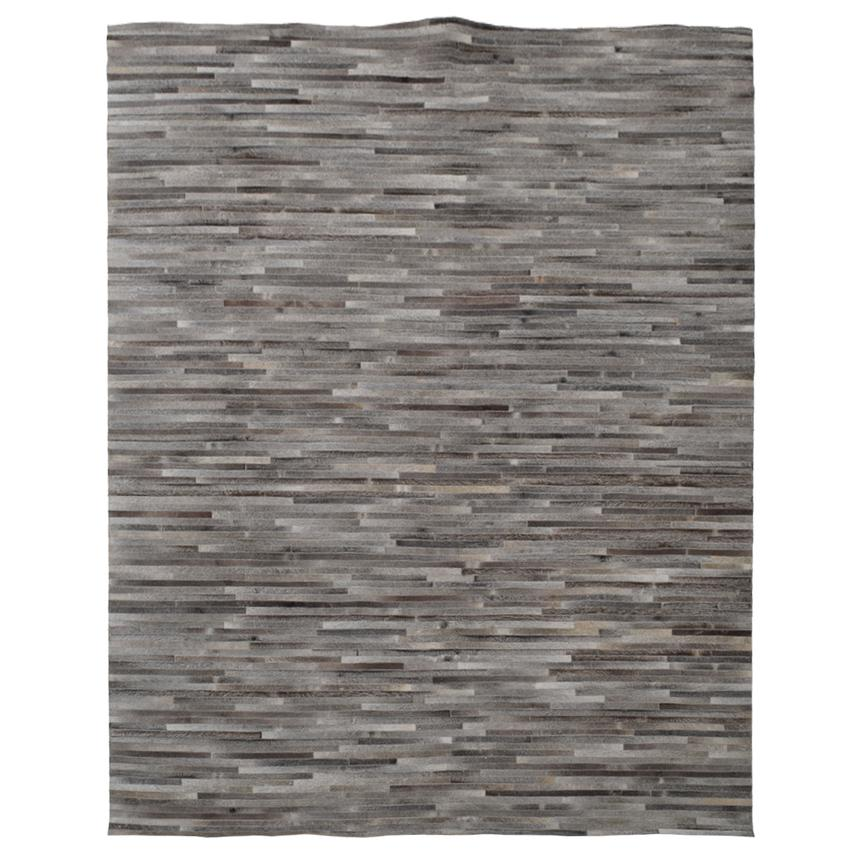 Capri Gray Cowhide Patchwork 8' x 10' Area Rug  main image, 1 of 3 images.