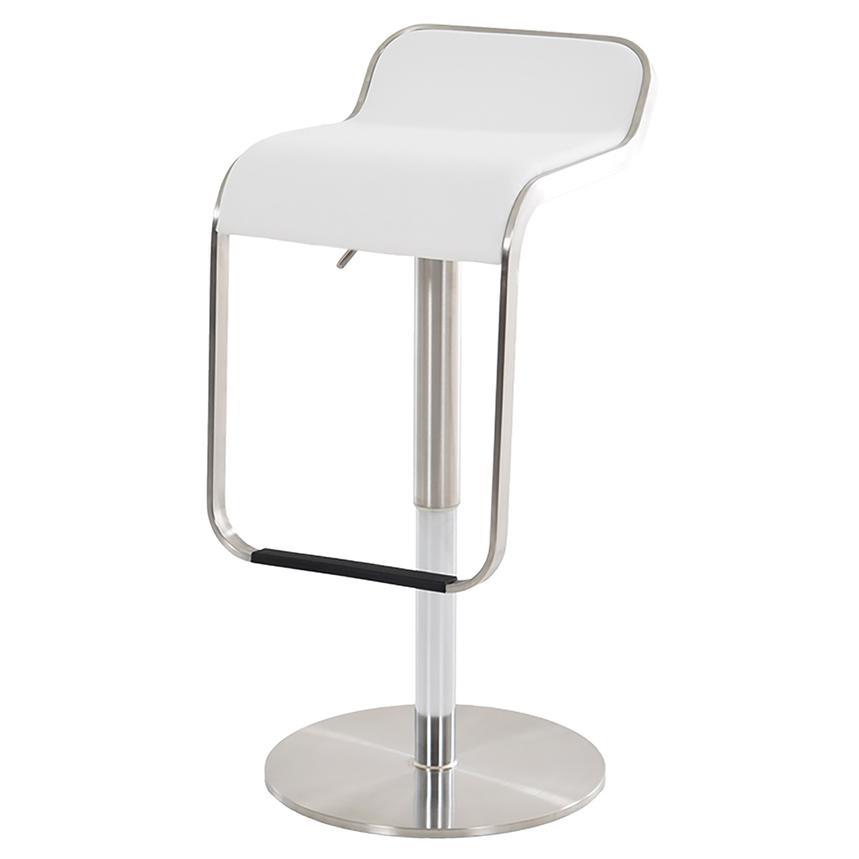 Binx White Adjustable Stool  main image, 1 of 6 images.