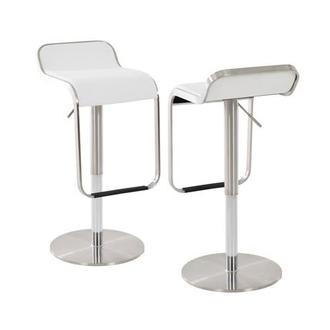 Binx White Adjustable Stool
