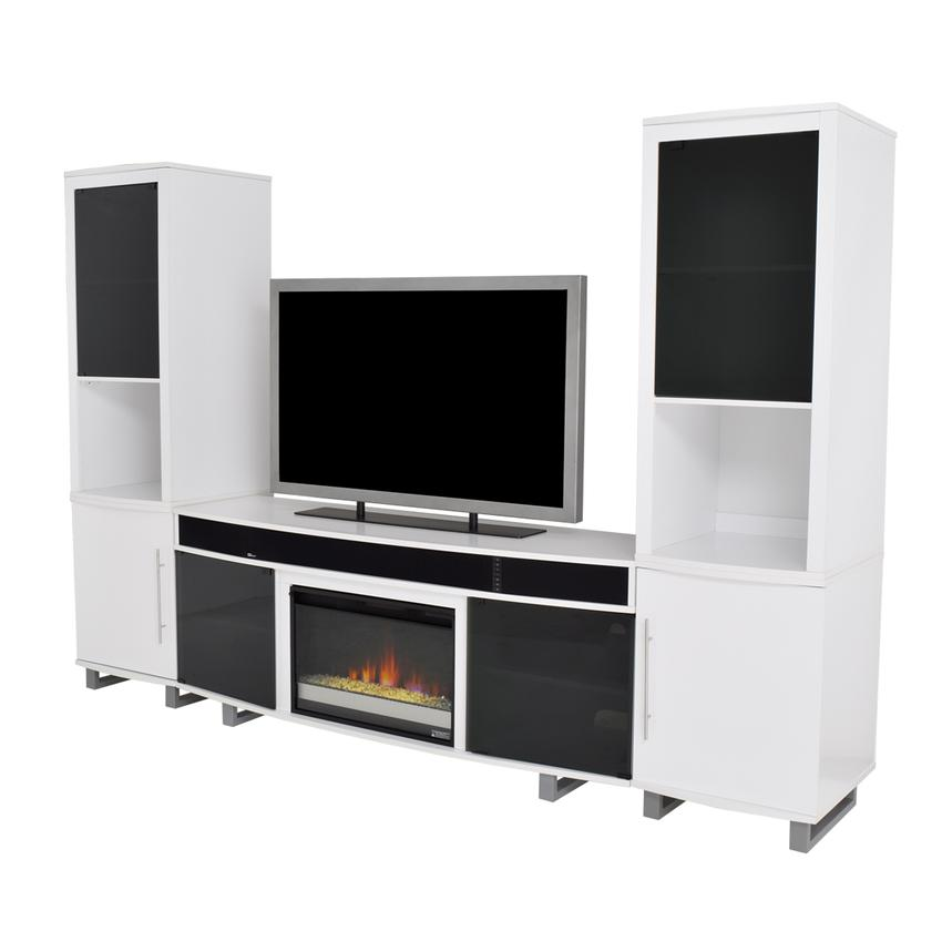 Enterprise White Wall Unit w/Speakers  main image, 1 of 13 images.